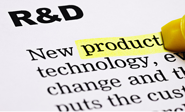 Under the heading 'R&D', yellow marker highlights 'product'